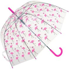 The range of umbrella's from The Secret Wardrobe will help cheer you up in any rainy. Clear Dome Umbrella, Pink Plastic, Cheer You Up, East Sussex, Pink Flamingos, Contemporary Fashion, Discount Designer, Branding Design, Rain