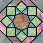 Stained Glass Rose Window Quilt Block Pattern