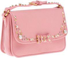 Another pink Miu Miu <3 with rhinestone. LOVE IT.