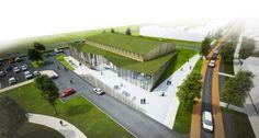 MoederscheimMoonen Architects, Het Anker, mixed-use development, Zwolle, The Netherlands, community center, green design, sustainable design, eco-design, landscaped roof, rainwater runoff, insulation, The Netherlands