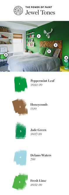 Exploring our favorite jewel-toned hues, click to see more rooms on the Homepolish Magazine.