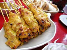 Satay Gai (Chicken Satay) » Thai food Recipes