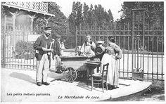 photo-insolite-noir-et-blanc-petits-metiers-paris-vintage-vendeur-marchand-coco-boisson-1900-carte-postale-ancienne