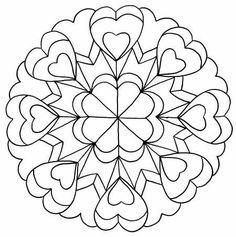 ԑ̮̑♦̮̑ɜ~Mandala para Colorear~ԑ̮̑♦̮̑ɜ corazones 1