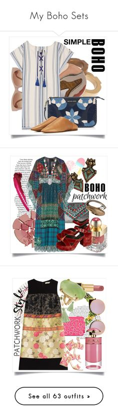 """""""My Boho Sets"""" by capricat ❤ liked on Polyvore featuring Marni, Wolf & Moon, Lemlem, MICHAEL Michael Kors, Acne Studios, Charlotte Tilbury, Shanghai Tang, Jean-Paul Gaultier, La Regale and Anna Sui"""