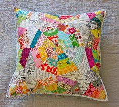 Texty Spiderweb Pillow |with low volume fabrics