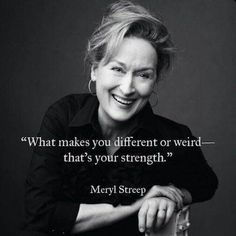 Meryl is very different!  Loved her portrayal of the odd and tragic Aunt Josephine in Lemony Snicket's A Series of Unfortunate Events.