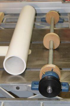 Snailworks Sander Build Log deboss roll made of pipe – Woodworks Woodworking Tools For Sale, Woodworking Lathe, Popular Woodworking, Woodworking Projects Diy, Woodworking Furniture, Woodworking Quotes, Woodworking Videos, Homemade Drum, Homemade Tools