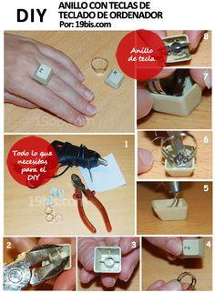 cómo realizar un anillo con teclas de teclados de ordenador