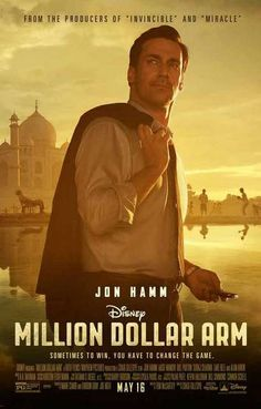 Million Dollar Arm Jon Hamm Disney Movie Poster 11x17