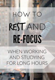 How can you work or study for longer hours? What can you do to keep yourself focused and your performance going? Keep reading to find out.