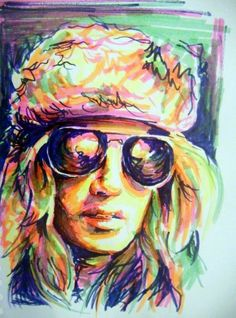 drawn with highlighter pens!