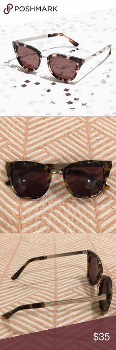 Madewell Playlist Sunglasses Tortoise Shell Madewell's Playlist Sunglasses. Like if wayfarers and cat eyes had a baby. These are in great condition. One incredibly tiny scratch on the right arm. No scratches on lenses. Madewell Accessories Sunglasses
