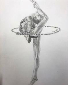 Danse Ballet Drawings, Dancing Drawings, Pencil Art Drawings, Art Drawings Sketches, Cool Drawings, Gymnastics Wallpaper, Dancer Drawing, Dance Paintings, Ballet Art