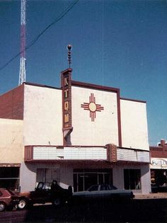 radio stations owned by Norman Petty in a converted movie theatre, also used as a recording studio, downtown Clovis, New Mexico, 9-82