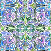 In a Big Paisley Place by edsel2084, Spoonflower digitally printed fabric, wallpaper, and gift wrap