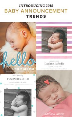 Announce your newest (and best) creation and let everyone celebrate in your new family's happiness. Discover all the designs and templates or start from scratch.