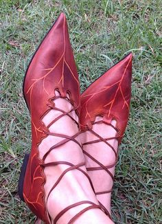 Leafy Pixie Shoes by pendragonshoes on Etsy