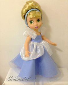 Cinderella dress for Disney animator doll by malanedoll Cinderella Doll, Disney Princess Dolls, Cinderella Dresses, Disney Dolls, Disney Animators, Disney Animator Doll, Miraculous Ladybug Toys, Precious Moments Dolls, Princesa Leia