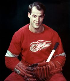 """""""Gordie"""" Howe, was born (1928) in Floral, Saskatchewan. He is a Canadian retired professional ice hockey player who played for the Detroit Red Wings and Hartford Whalers of the National Hockey League (NHL), and the Houston Aeros and New England Whalers in the World Hockey Association (WHA). Howe is often referred to as Mr. Hockey, and is generally regarded as one of the greatest hockey players of all time."""