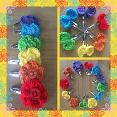 #rainbowcolors #rainbow #crochet #crochetlove #crochetlover #crochetersofinstagram #crocheting #hair #hairclips #hairaccessories #hairaccessory #hairstyles #hairofinstagram #hairaccessoriesforgirls #hairaccessoriesforsale #hairaccessorieshandmade #madebymacey #handmade #handmadehairaccessories #flowers #bows by laurenmacey