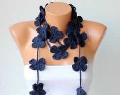 crochet bufanda flor bufanda lazo lazo de flor rojo