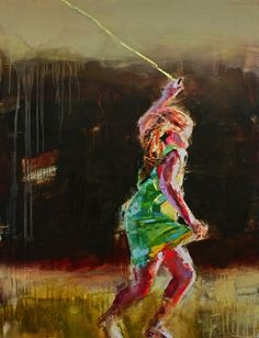 """""""Flying Her Kite"""", by Teil Duncan"""