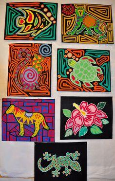 Art Drawings For Kids, Art For Kids, Abstract Face Art, Fall Art Projects, Online Art Classes, 6th Grade Art, Reverse Applique, Folk, Middle School Art