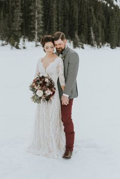 This dress is so pretty! I think it would work.    Lake Louise Wedding Photographers #weddingphotography