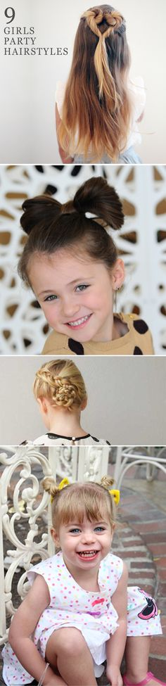 From bows to braids and chic updos, your little girl will look prettier than a princess with one of these party hairstyles.