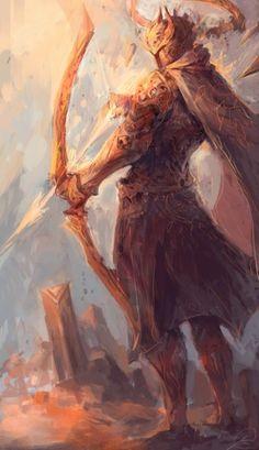 Eferos, capitão dos arqueiros do império da noite eterna