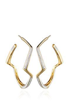 Petra Contour Hoop Earrings by Kara Ross Resort 2014 - Moda Operandi (=)