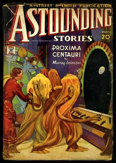Astounding Stories, March 1935, cover by Howard V. Brown
