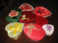 9 Vintage Valentine Candy Boxes. $50.00, via Etsy.