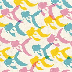 designs are the wonderful whimsical prints of  japanese illustrator and pattern designer anyan sha.