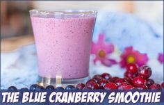 1 cup frozen blueberries - 1/4 cup frozen whole cranberries - 1/2 cup vanilla nonfat yogurt - 1/2 cup cranberry juiced cocktail