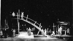 "Set designed by Berthold Brecht for ""The Good Person of Szechwan"" (1920)"