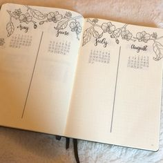 bulletjournalinspox Currently I am setting up my future log for 2018, highly inspired by @bonjournal_ . I loooove this orchid design.