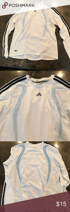 White adidas running top White adidas long sleeves running top. Excellent condition Adidas Tops Tees - Long Sleeve