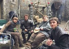 Game of Thrones: Sebastian Croft, Fergus Leathem, Sam Coleman and Isaac Hempstead Wright