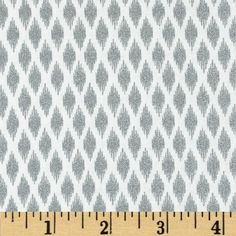 Pearle Silver Opalescent Ikat White from @fabricdotcom  Designed by Studioe Fabrics, this cotton print fabric is perfect for quilting, apparel and home decor accents. Features silver metallic accents throughout.