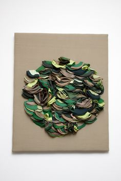 Fabric Flower Tutorial, Fabric Flowers, Art Deco Fabric, Wool Wall Hanging, A Level Textiles, Gcse Art Sketchbook, Fabric Embellishment, Textile Sculpture, A Level Art