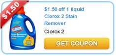*High Value* Liquid Clorox 2 Stain Remover & Color Booster Printable Coupon!