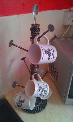 Engine Mug Tree by BigPenguinDesigns on Etsy