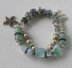 Star Island Handmade Beaded Bracelet Very interesting bead combination.