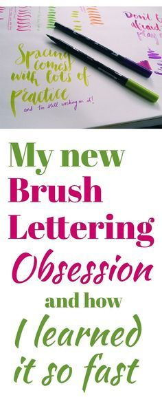 The Brush Lettering Technique That Can Instantly Improve Your Writing In order to really see a definable style emerge as you begin playing with brush pens, you need to master this one brush lettering technique. What's great is that it is super simple!
