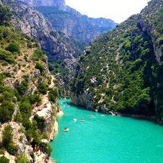 Gorges du Verdon in La Palud-sur-Verdon, Provence-Alpes-Côte d'Azur