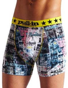 Pull-In Men's Fashion Brook Short, Multi-Colored, X-Large