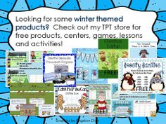 Winter themed products for 1st grade - Teacher Treasure Hunter ~ $ and Free items