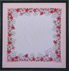 Pink Flower Hankie